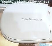 Asiento inodoro VERONICA tapawc compatible Roca