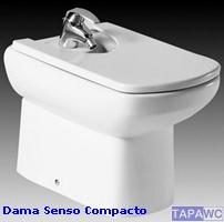 Tapa bide dama senso compacto roca for Roca dama senso precio