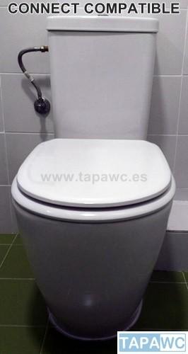Asiento inodoro connect tapawc compatible amortiguado - Inodoro ideal standard ...