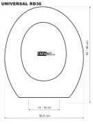 Tapa inodoro  REDONDO 36 DMF tapawc standard