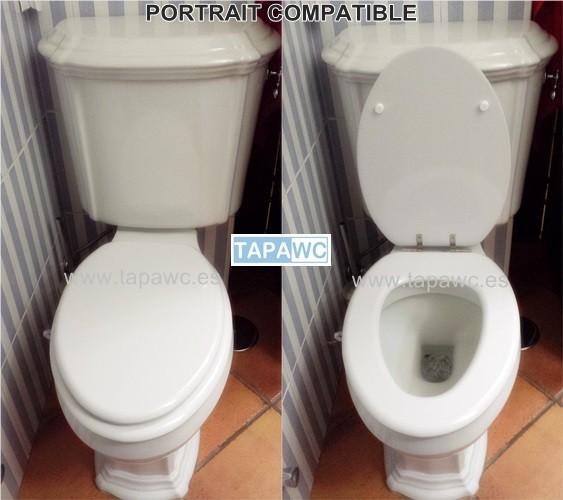 Asiento inodoro PORTRAIT tapawc compatible Jacob Delafon