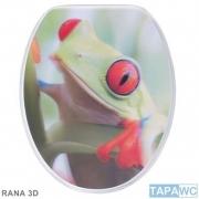 Asiento inodoro RANA VERDE 3D tapawc decora (ultima)