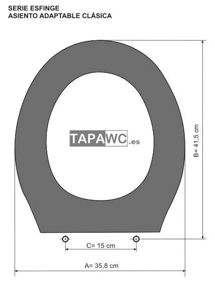 Asiento inodoro CLASSICA tapawc compatible ESFINGE